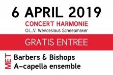 Harmonie Liora en Barbers&Bishops bundelen krachten tijdens concert