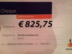 Liora wint €825,75 met de Rabobank Clubkas Campagne!